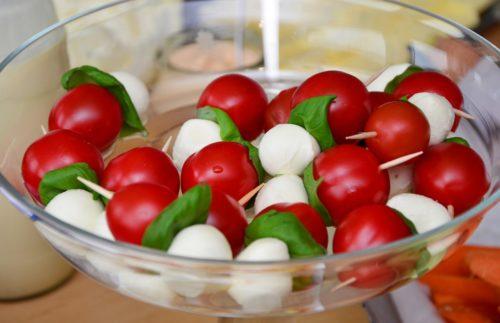brochettes de tomate mozzarella