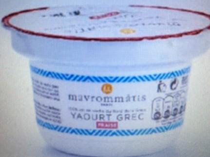 yaourt grec fraise