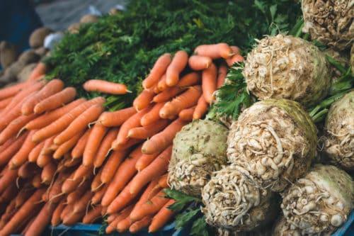 Bons légumes sélectionnés