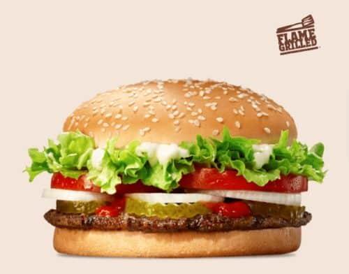 Le Whooper à 2 euros chez Burger King Belgique