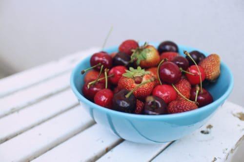 Recettes de jus de fruits - Fraises et cerises