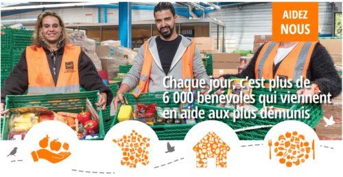 Bénévoles oeuvrant pour la redistribution de produits alimentaires