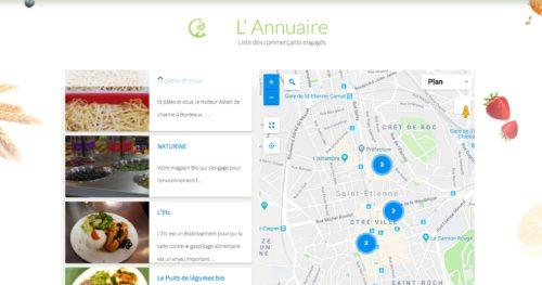 Carte des commerces labellisés Care Eat
