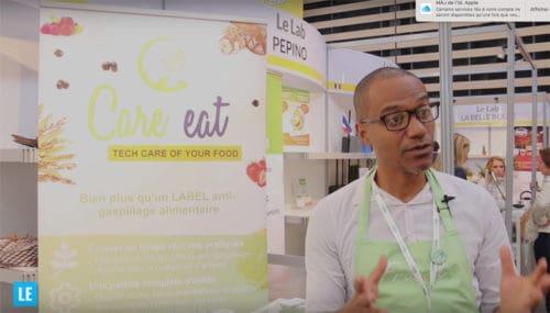 Franck Nganiet présentant Care Eat