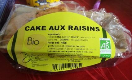 Cake aux raisins