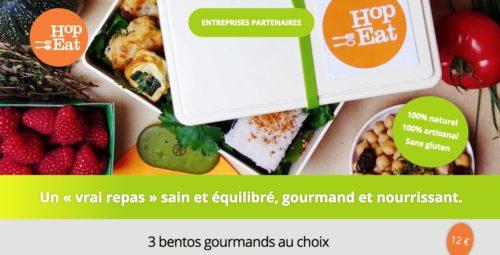 Hop Eat propose des bentos gourmands pour 12 euros - Sains et équilibrés