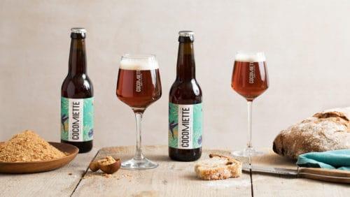 La bière rousse de Cocomiette, au pain produite par la récupération de chapelure, et sans céréales