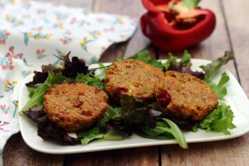 Croquettes de quinoa au poivron et feta par Amandine Cooking