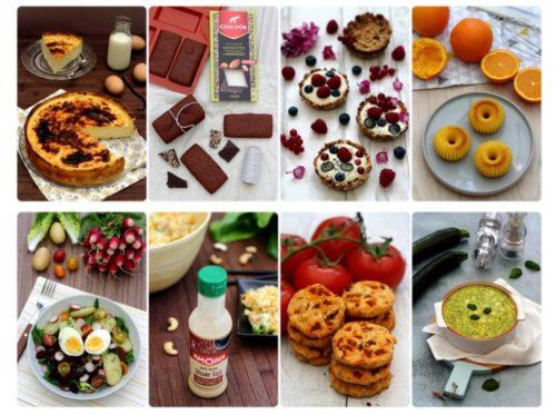 Différents plats proposés par la blogueuse Amandine Cooking