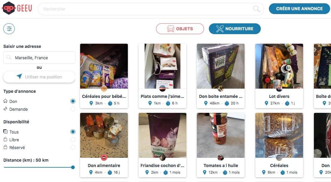 L'application Geev, pour le don de produits alimentaires