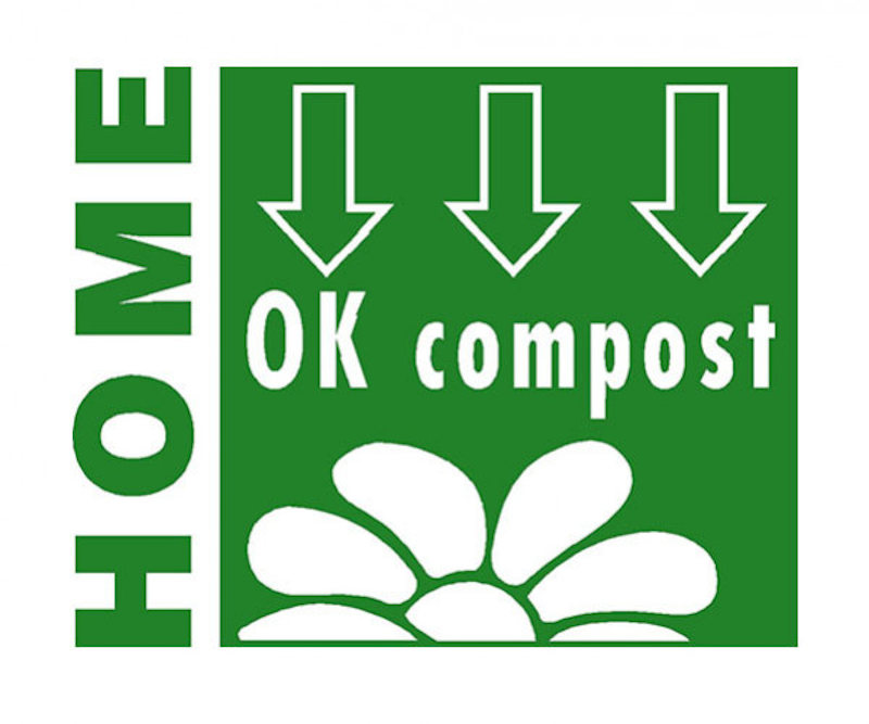 Logo OK Compost indiquant que le produit peut être composté sans risque