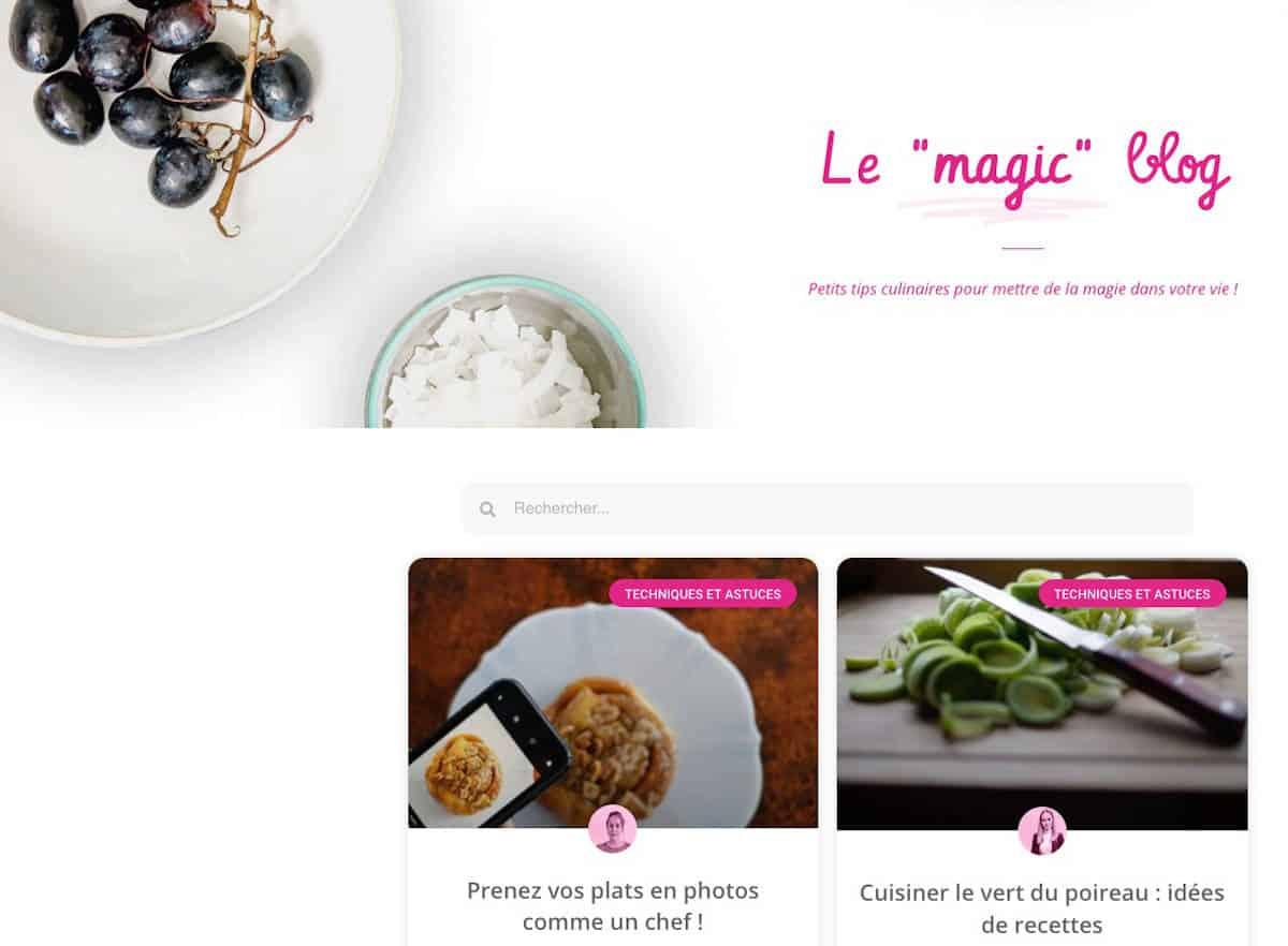 Jetez un oeil au blog de Frigo Magic - Là aussi, plein d'idées de recettes