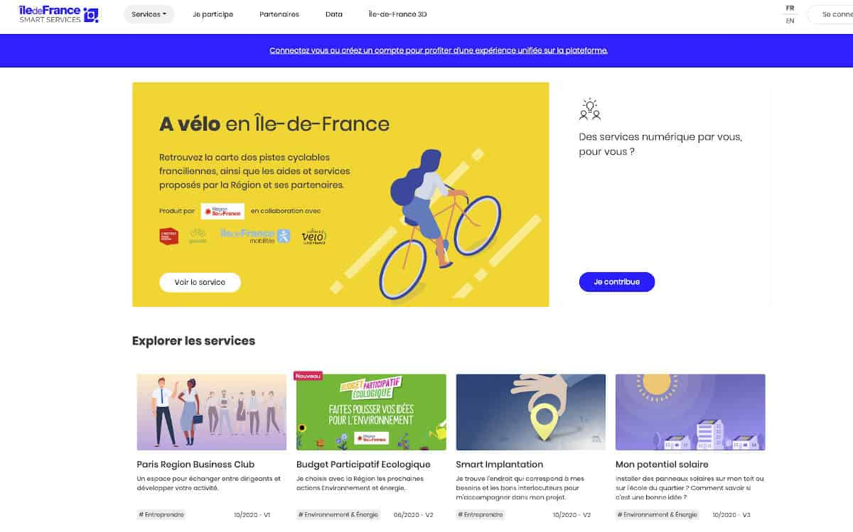 Présentation de la plateforme Île-de-France Smart Services