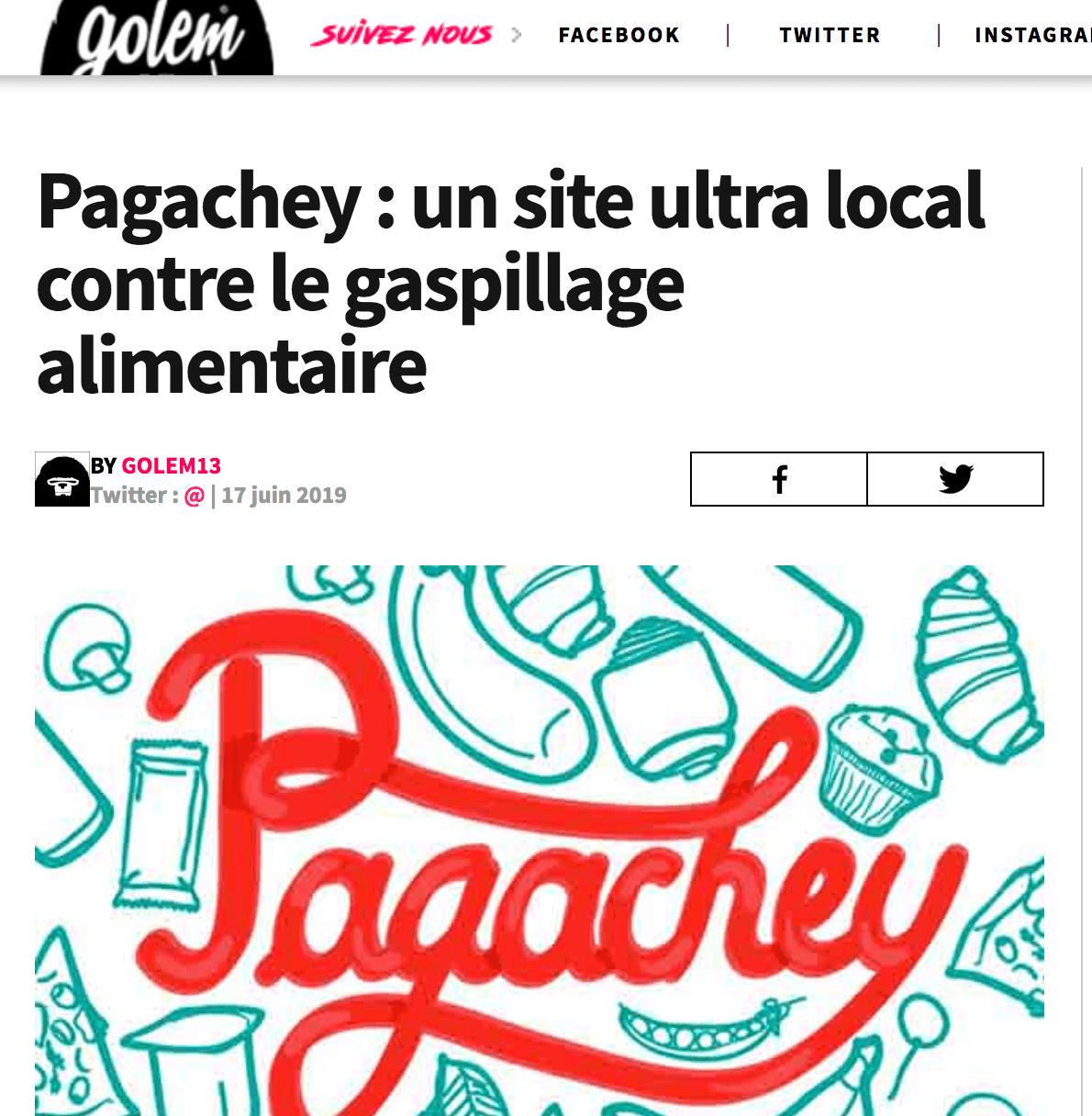 Le site de divertissement Golem13 met en avant Pagachey